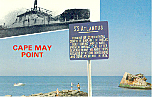 SS Atlantus Cape May Point  NJ Postcard p16612 (Image1)