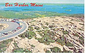 Aerial View of Bar Harbor ME Postcard p16619 (Image1)