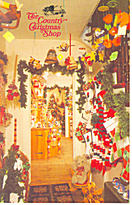 Country Christmas Shop, Sturbridge, MA Postcard (Image1)