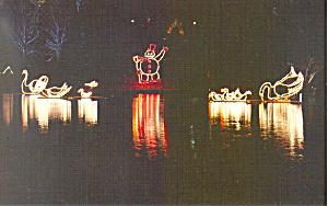 Festival of Lights Oglebay WV Postcard p16643 (Image1)