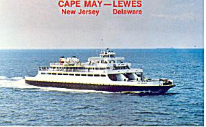 Cape May  NJ  Ferry Postcard p16649 (Image1)