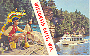 Beautiful Wisconsin Dells, WI Postcard (Image1)