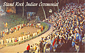 Indian Ceremonial Wisconsin Dells Wi Postcard P16658
