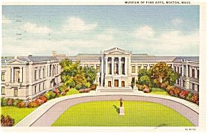 Boston MA Fine Arts Museum Postcard p1665 (Image1)