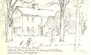 Parson House Greenfield Village Dearborn MI Postcard p16660 (Image1)