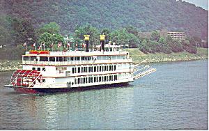 MV West Virginia Belle Steam Boat   Postcard p16669 (Image1)