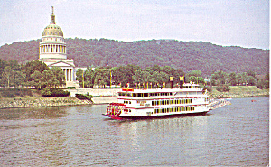 MV West Virginia Belle Steam Boat   Postcard p16670 (Image1)