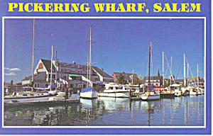 Pickering Wharf Salem Massachusetts   Postcard p16680 (Image1)