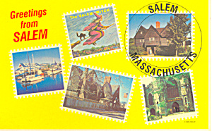 Salem Massachusetts   Postcard p16683 (Image1)