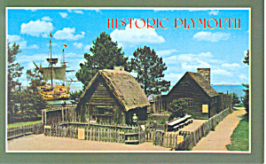 View of Plimouth Plantation Massachusetts  Postcard p16688 (Image1)