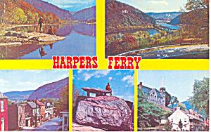 Historic Harper s Ferry West Virginia  Postcard p16696 (Image1)