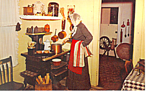 Kitchen Village Hall Museum Lindenhurst NY  Postcard p16704 (Image1)