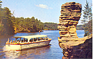 Chimney Rock Wisconsin Dells Wisconsin Postcard P16710