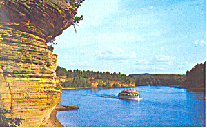 Lower Dells Wisconsin River Wisconsin Postcard P16711