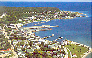 Harbor, Mackinac Island,Michigan  Postcard (Image1)