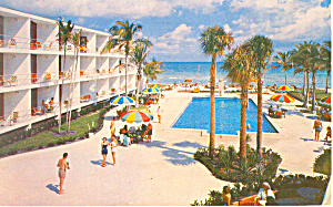 Pan American Motel, Miami Beach, FL Postcard 1953 (Image1)