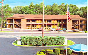 Budget Host Valencia Motel Laurel Md Postcard P16768