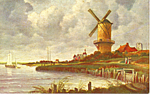 The Mill on The Wyck Ruisdael Postcard p16801 (Image1)