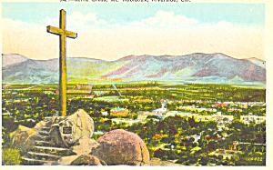 Serra Cross Mt Rubidoux Riverside CA Postcard p16805 (Image1)