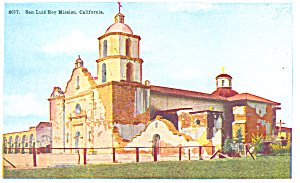 San Luis Rey Mission California Postcard P16807