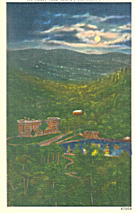 Night Scene Montreat North Carolina Postcard p16809 (Image1)