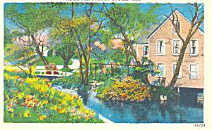 The Old Mill Sandwich Cape Cod MA  Postcard p16815 (Image1)