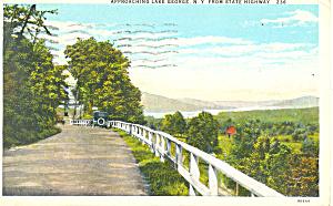 Approaching Lake George New York Postcard p16826 (Image1)