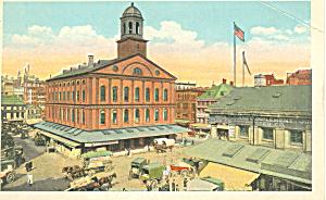 Faneuil Hall Boston Massachusetts Postcard p16827 (Image1)