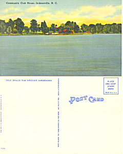 Community Club House Jacksonville NC Postcard p16835 (Image1)