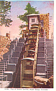 Royal Gorge Incline Colorado Postcard p16838 (Image1)