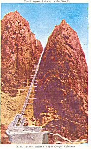Royal Gorge Incline Colorado Postcard p16839 (Image1)