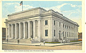 York, PA US Post Office Postcard 1918 (Image1)