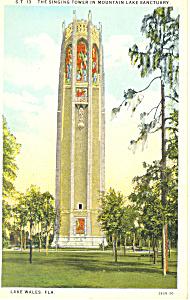Singing Tower Lake Wales Florida Postcard p16849 (Image1)