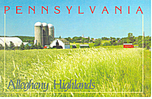 Farm Scene,Allegheny Highlands, PA Postcard (Image1)