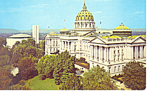 State Capitol Harrisburg PA Postcard p16874 (Image1)