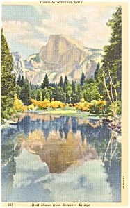 Yosemite National Park CA Half Dome Postcard p1687 (Image1)