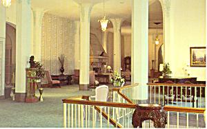 Lobby Flanders Hotel Ocean City NJ Postcard p16881 (Image1)