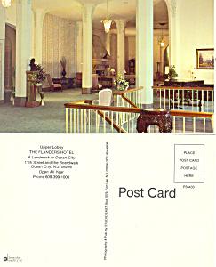 Lobby Flanders Hotel Ocean City NJ Postcard p16882 (Image1)