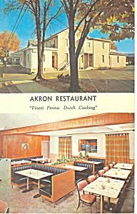 Akron Resturant  Akron PA Postcard p16885 1968 (Image1)
