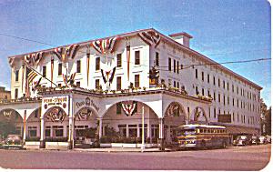 Penn Stroud Hotel Stroudsburg PA Postcard p16891 Old Bus (Image1)
