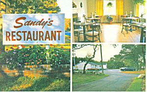 Sandy s Restaurant Sandwich  MA Postcard p16892 (Image1)