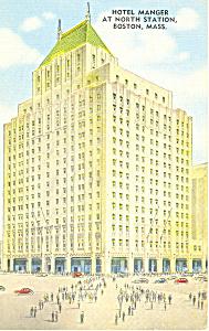 Hotel Manger Boston MA Postcard p16893 (Image1)