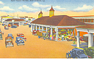 New French Market, New Orleans, LA Postcard (Image1)