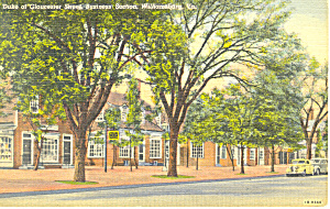 Duke Gloucester St., Williamsburg, VA Postcard 1947 (Image1)