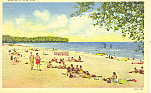 Bathing in Lake Erie NY Postcard p16933 (Image1)