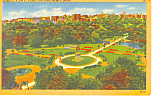 View of  Public Gardens Boston MA Postcard p16959 (Image1)