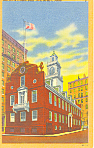 Old State House Boston MA Postcard p16963 (Image1)