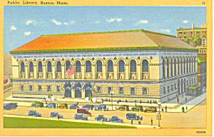 Public Library Boston MA Postcard p16966 (Image1)