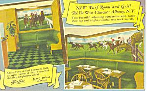 De Witt Clinton Turf Room  Albany New York Postcard p16970 (Image1)
