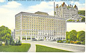 De Witt Clinton Hotel Albany New York Postcard p16971 (Image1)